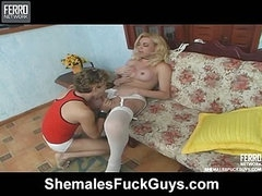 Veronica shemale and pussyguy on video