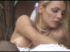 Hot wedding sex outdoors
