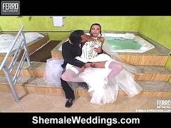 Bruna irresistible shemale bride